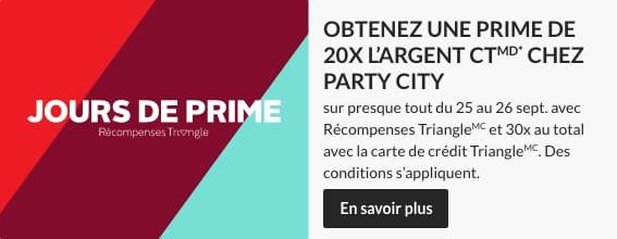 Jours de Prime - Party City – 25 a 26 septembre